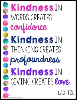 KINDNESS POSTERS - Bright Watercolor Theme