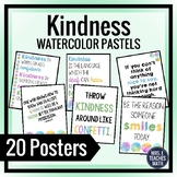 KINDNESS POSTERS - Pastel Watercolor Theme