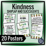KINDNESS POSTERS - Shiplap and Succulents Theme