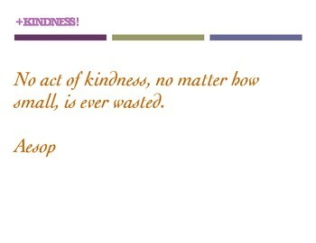 KINDNESS QUOTES (8.5 x 11 Posters)