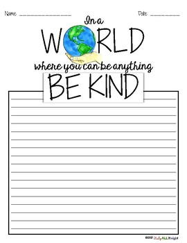 Kindness Writing Activity, Sketch Notes, Quotes, Choices