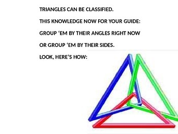 KINDS OF TRIANGLES AND THEIR PARTS SONG