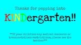 KINDergarten Open House Welcome Slide