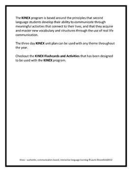 KINEX - authentic, communication-based, interactive second language learning