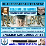KING LEAR - SHAKESPEAREAN TRAGEDY - 25 WORKSHEETS WITH ANSWERS