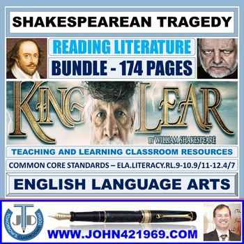 KING LEAR - SHAKESPEAREAN TRAGEDY - CLASSROOM RESOURCES BUNDLE
