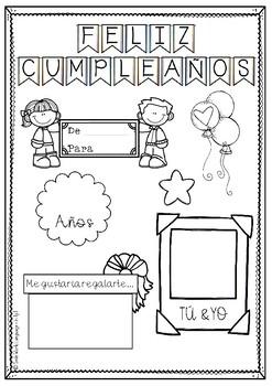 KIT Cumpleaños Spanish Happy Birthday español
