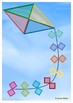 KITE SHAPES- CUT AND PASTE CRAFTIVITY