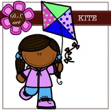 KITE - free Blackboard Digital Clipart (color and black&white)