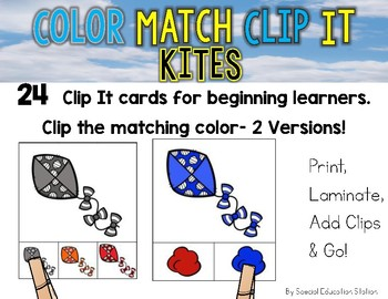 KITES Color Match Clip It {A Beginning Work Task)