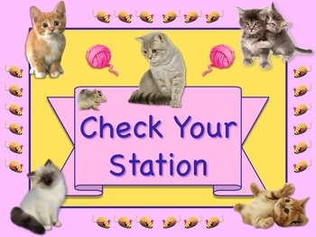 KITTEN Themed Station/Center Signs Great Classroom Management! TOO CUTE!!