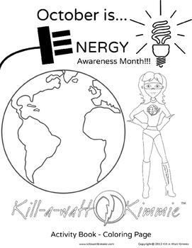 KIllawatt Kimmie October Energy Month Activity Book