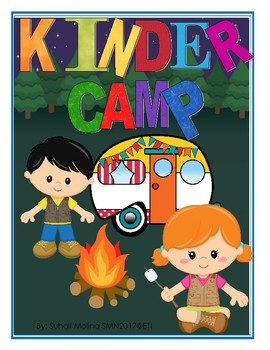 KInder Camp Banner letters and cliparts 8x10 size