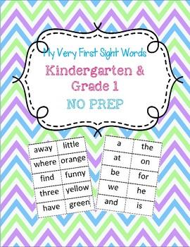 KIndergarten/ Grade 1 Sight Words NO PREP