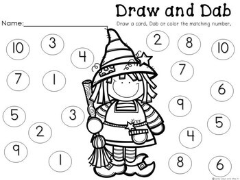 KIndergarten Halloween Center - Draw, Count, and Dab