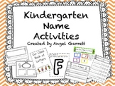 Kindergarten Name Activities (Common Core Foundational Skills)