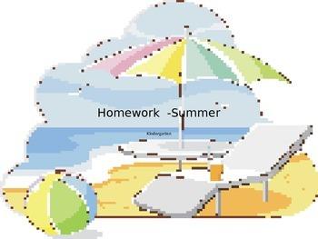 KIndergarten Private School Summer Homework Sheets