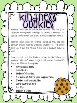Kindness Cookies Classroom Management Strategy