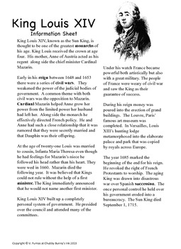 King Louis XIV- Expository Essay