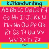 KJ Handwriting Font