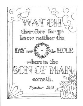 KJV Bible Coloring Pages