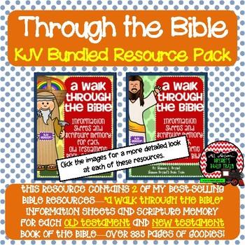 KJV Bible Verses, Background Info, and Student Response Sheets (Bundle)
