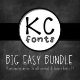 KC Fonts : THE BIG EASY BUNDLE