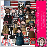 American heroes clip art - COMBO PACK - by Melonheadz