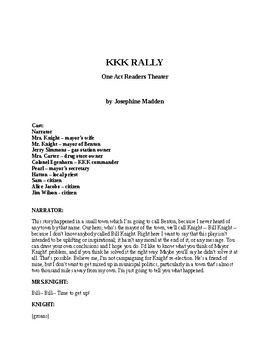 KKK Rally - A One Act Readers Theater