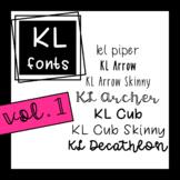 KL Fonts Vol. 1
