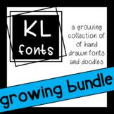 KL Fonts Growing Bundle