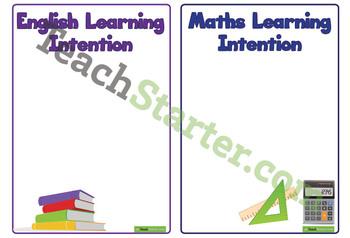 KLA Learning Intention Posters – Portrait