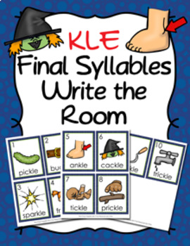 KLE Final Stable Syllable Words Write the Room
