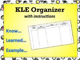 KLE New Material Graphic Organizer for Note-Taking