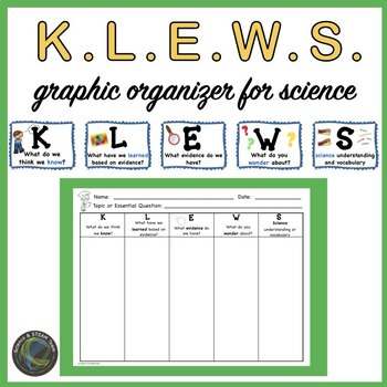 KLEWS  Chart Graphic Organizer for Science