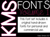KMS Fonts - Volume 1