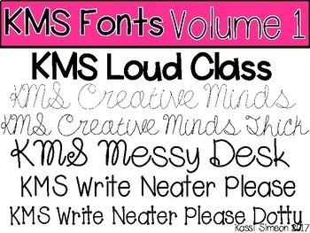 KMS Fonts - Volume 1