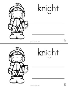 KN Book- Beginning Digraph Phonics Book- Color and Black & White Copy