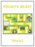 KNIGHT'S QUEST Vowels- ELA First Grade Folder Game - Word Work Center