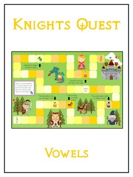 KNIGHT'S QUEST Vowels- ELA First Grade Folder Game - Word