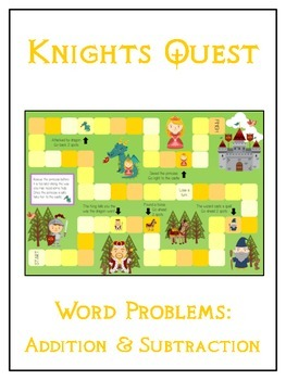 KNIGHT'S QUEST - Word Problems Adding & Subtracting - Math Folder Game
