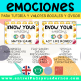 KNOW YOUR EMOTIONS: 2 sets of cards for different games