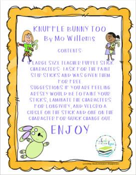 KNUFFLE BUNNY TOO TEACHER SIZE PUPPET STICKS