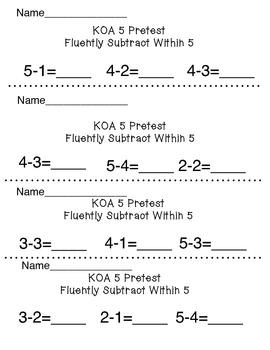 KOA 5 Subtraction