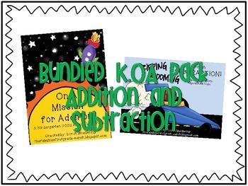K.OA Bundle (Kindergarten Addition/Subtraction packs, CCSS
