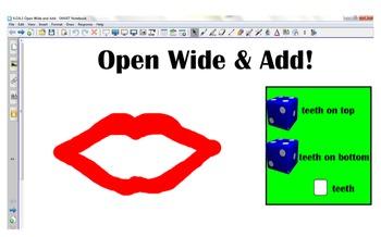 K.OA.1 Open Wide and Add Smart Notebook file