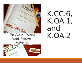 K.OA.A.2 Ocean Themed Word Problems with Greater and Lesser Than