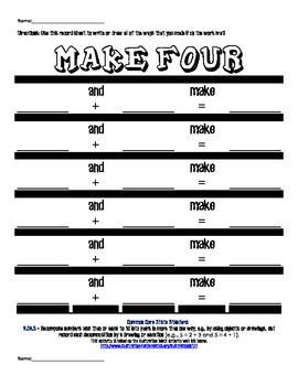 K.OA.3 Make Four