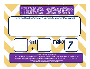 K.OA.3 Make Seven