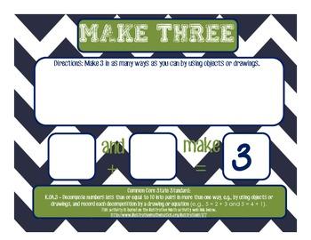 K.OA.3 Make Three